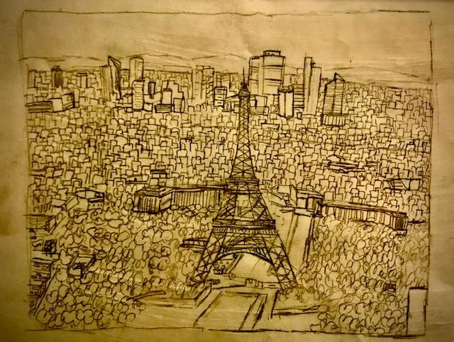 La Torre Eiffel és a Madrid (i la veritat és arreu). Dibuix de Marc Oliveres